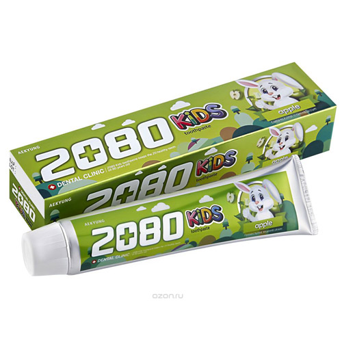 Kerasys Dental Clinic 2080 Toothpaste Kids - Зубная паста Яблоко 80 гр