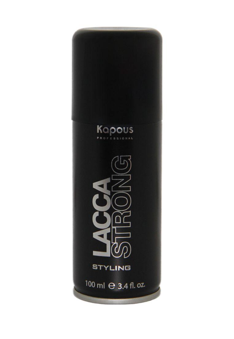 Kapous Professional Лак аэрозольный для волос сильной фиксации 100 мл kapous professional лак аэрозольный для волос сильной фиксации 750 мл
