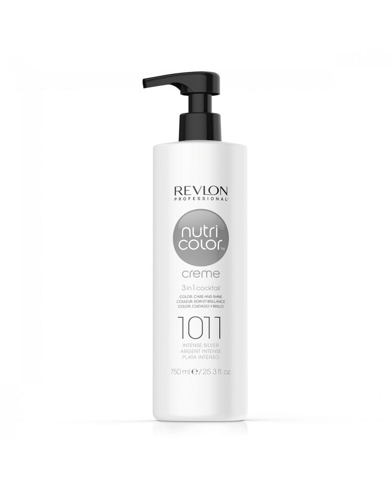 Revlon Professional Nutri Color Creme 1011 - Крем-краска интенсивно серебристый 750 мл недорого