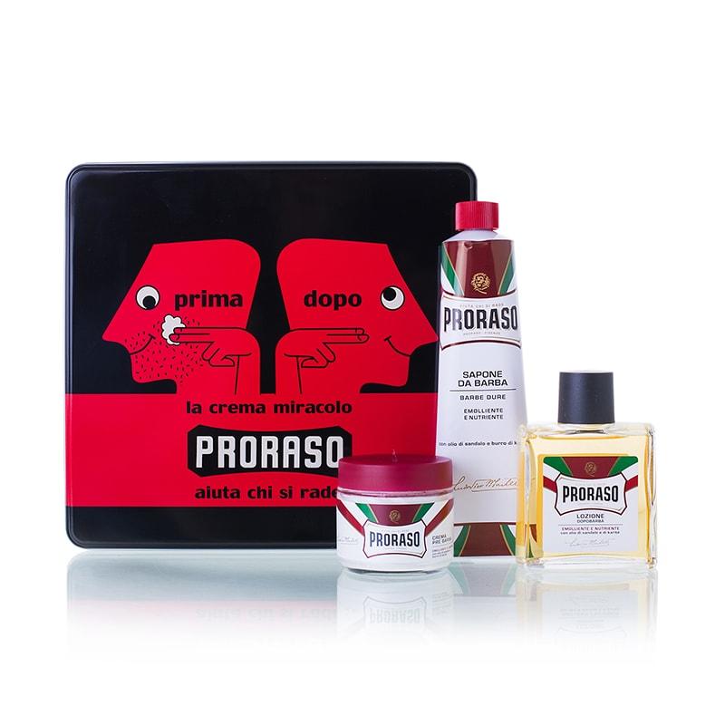 Proraso Vintage Selection Primadopo - Набор для бритья (крем до бритья 100 мл, крем для бритья 150 мл, лосьон после бритья 100 мл)