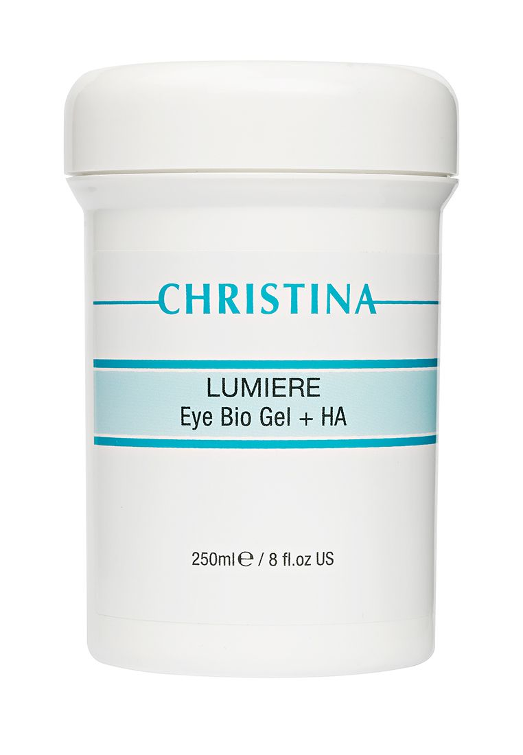 Christina Eye  and  Neck Bio Gel + HA - Lumiere - Гель для кожи век и шеи с комплексом дерма-витаминов и гиалуроновой кислотой 250 мл