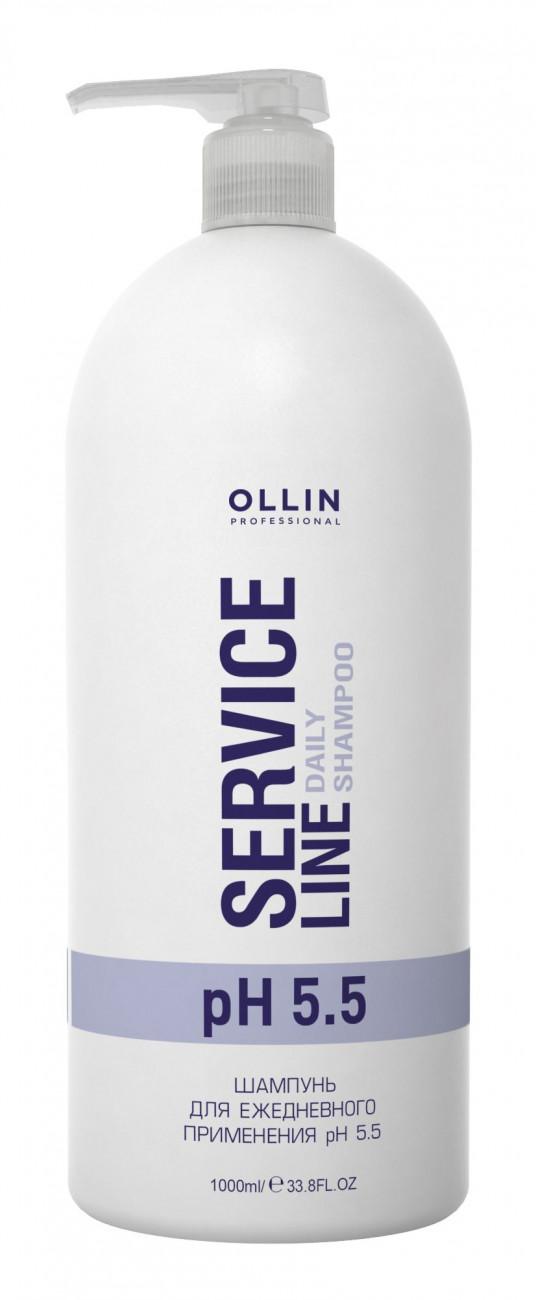 Ollin Professional Service Line Daily Shampoo Ph 5.5 - Шампунь для ежедневного применения рН 5.5 1000 мл ollin professional шампунь стабилизатор service line ph 3 5 1 л