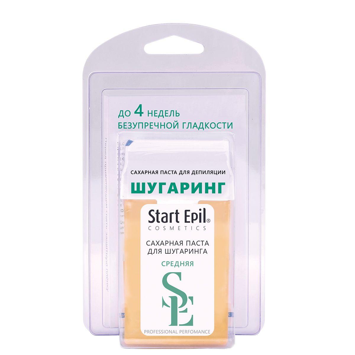 Фото - Aravia Professional Start Epil - Набор для шугаринга (сахарная паста в картридже средняя 100 гр, полоски для депиляции) start epil набор для шугаринга паста средняя в картридже 100 г бумажные полоски