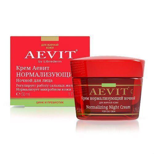 Фото - Librederm Aevit - Крем нормализующий ночной 50 мл aevit ночной крем для лица нормализующий для жирной кожи 50 мл