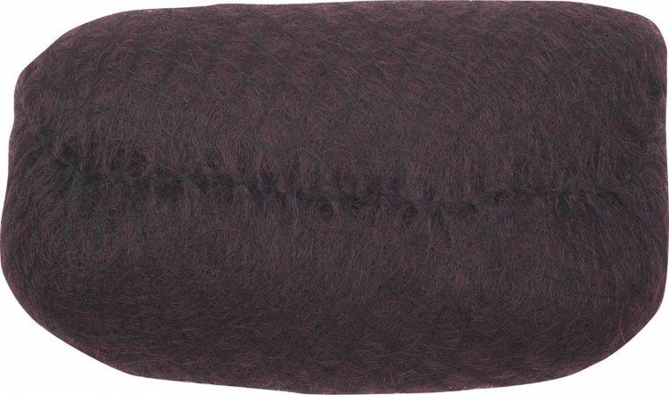 Dewal - Валик для прически, искусственный волос + сетка, темно-коричневый 18х11 см недорого