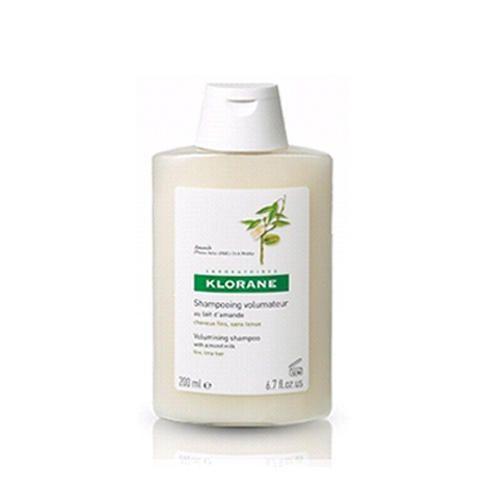 Klorane Fine Hair - Шампунь с молочком миндаля для придания объёма тонким волосам 200 мл
