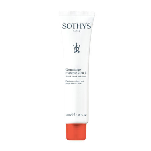 Sothys Watermelon-lime 2-in-1 Mask Exfoliant - Скраб-маска антиоксидантная 2в1 40 мл