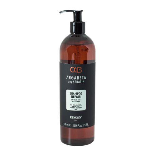 Dikson Argabeta Repair Shampoo vegKeratin - Шампунь для ослабленных и химически обработанных волос с гидролизированными протеинами риса и сои 500 мл dikson шампунь one's shampoo fortificante укрепляющий с гидрализованными протеинами риса 1000 мл
