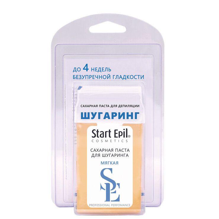Фото - Aravia Professional Start Epil - Набор для шугаринга (сахарная паста в картридже мягкая 100 гр, полоски для депиляции) start epil набор для шугаринга паста средняя в картридже 100 г бумажные полоски