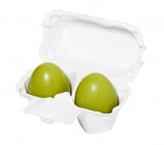 Holika Holika Egg Soap Green Tea - Мыло-маска с зеленым чаем 50гр+50гр