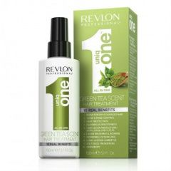 Revlon Professional Uniq One Hair Green Tea Treatment - Спрей-маска для ухода за волосами с ароматом зеленого чая 150 мл Revlon Professional (Испания) купить по цене 1 200 руб.